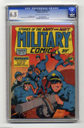 Golden Age (1938-1955):War, Military Comics #37 (Quality, 1945) CGC FN+ 6.5 Light tan tooff-white pages. Featuring Blackhawk. Only three copies of this...