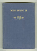 Golden Age (1938-1955):Cartoon Character, New Funnies #162-173 Bound Volume (Dell, 1950-51). This volume,bound in dark blue cloth, contains issues #162, 163, 164, 16...