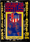 Music Memorabilia:Posters, Beatles 1966 Candlestick Park Final Show Poster Created by Wes Wilson (AOR-1.115)....