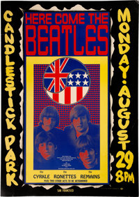 Beatles 1966 Candlestick Park Final Show Poster Created by Wes Wilson (AOR-1.115)
