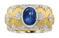 Estate Jewelry:Rings, Sapphire, Gold Ring, Buccellati The ring cente...