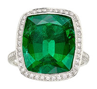 Emerald, Diamond, Platinum Ring, Tiffany & Co