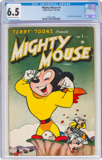 Mighty Mouse #1 (Timely, 1946) CGC FN+ 6.5 Off-white to white pages