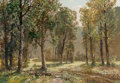 Paintings, Konstanty Mackiewicz (Polish, 1894-1985). A Summer Clearing. Oil on canvas. 27 x 38-1/2 inches (68.6 x 97.8 cm). Signed ...