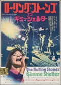 "Movie Posters:Rock and Roll, Gimme Shelter (20th Century Fox, 1971). Rolled, Very Fine. Japanese B2 (20.25"" X 28.5""). Rock and Roll.. ..."