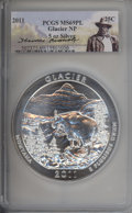2011 25C Glacier National Park Five-Ounce Silver MS69 Prooflike PCGS. PCGS Population: (1999/0). NGC Census: (0/0). ...(...
