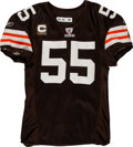 Football Collectibles:Uniforms, 2007 Willie McGinest Game Worn Cleveland Browns Jersey. ...