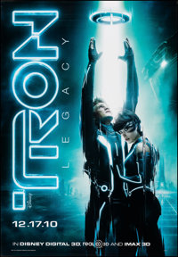 """Tron: Legacy (Walt Disney Pictures, 2010). Rolled, Very Fine+. Bus Shelter (47.5"""" X 68.5"""") DS Advance. Action..."""
