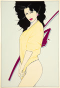Paintings, Patrick Nagel (American, 1945-1984). Untitled. Acrylic on board. 14-3/4 x 10-1/4 inches (37.5 x 26.0 cm) (image). Signed...