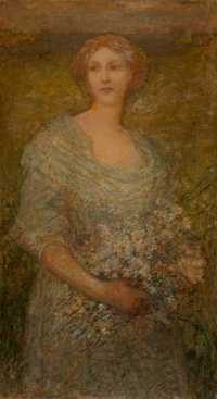 Walter Parsons Shaw Griffin (American, 1861-1935) Portrait of a Lady Oil on canvas 36-1/8 x 20-1/