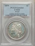 Patterns, 1879 $1 Goloid Metric Dollar, Judd-1626, Pollock-1822, R.4, -- Altered Surfaces -- PCGS Genuine. Proof. ...