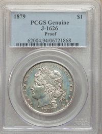1879 $1 Goloid Metric Dollar, Judd-1626, Pollock-1822, R.4, -- Altered Surfaces -- PCGS Genuine. Proof. ...(PCGS# 62004)