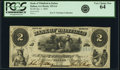 Obsoletes By State:Georgia, Dalton, GA- Bank of Whitfield in Dalton $2 Jan. 1, 1860 G4 PCGS Very Choice New 64.. ...