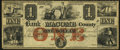 Obsoletes By State:Michigan, Mt. Clemens, MI- Bank of Macomb County $1 Apr. 1, 1858 Remainder Crisp Uncirculated.. ...