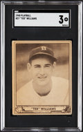 Baseball Cards:Singles (1940-1949), 1940 Play Ball Ted Williams #27 SGC VG 3....