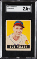 Baseball Cards:Singles (1940-1949), 1948 Leaf Bob Feller #93 SGC Good+ 2.5....