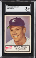 Baseball Cards:Singles (1950-1959), 1954 Dan-Dee Potato Chips Mickey Mantle SGC VG 3....