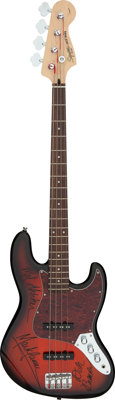 Grand Funk Railroad Band Signed Electric Fender Squier Jazz Bass Guitar (No Serial #)