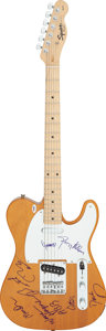 Musical Instruments:Electric Guitars, The Allman Brothers Band Signed Fender Squier Telecaster Copy Electric Guitar (Serial #CY06090190)....