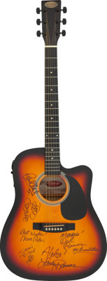 The Association Signed Stagg Acoustic Guitar With Electric Pickup (Serial #0211/22)
