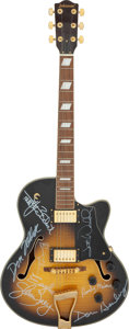 Musical Instruments:Electric Guitars, The Eagles Band Signed Johnson Hollow Body Electric Guitar (No Serial #)....