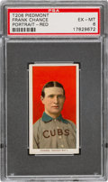 Baseball Cards:Singles (Pre-1930), 1909-11 T206 Piedmont 350 Frank Chance (Portrait-Red) PSA EX-MT 6 - Pop One, Three Higher for Brand/Series. ...