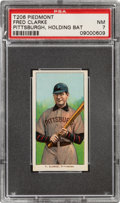 Baseball Cards:Singles (Pre-1930), 1909-11 T206 Piedmont 150 Fred Clarke (Holding Bat) PSA NM 7 - Pop Four, One Higher for Brand/Series....