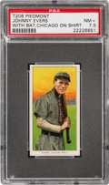 Baseball Cards:Singles (Pre-1930), 1909-11 T206 Piedmont 350 Johnny Evers (With Bat, Chicago On Shirt) PSA NM+ 7.5 - Pop One, Two Higher for Brand/Series. ...