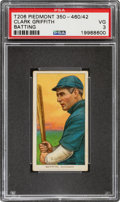 Baseball Cards:Singles (Pre-1930), 1909-11 T206 Piedmont 350-460/42 Clark Griffith (Batting) PSA VG 3 - Only Four Confirmed Factory 42 Backs. ...