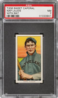 Baseball Cards:Singles (Pre-1930), 1909-11 T206 Sweet Caporal 350/30 Nap Lajoie (With Bat) PSA NM 7 - Pop Two, None Higher for Brand/Series/Factory. ...