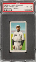Baseball Cards:Singles (Pre-1930), 1909-11 T206 El Principe De Gales Rube Marquard (Hands At Thighs) PSA VG-EX 4 - Only One Higher for Brand. ...