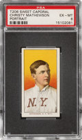 Baseball Cards:Singles (Pre-1930), 1909-11 T206 Sweet Caporal 350/30 Christy Mathewson (Portrait) PSA EX-MT 6 - Pop One, None Higher for Brand! ...