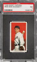 Baseball Cards:Singles (Pre-1930), 1909-11 T206 Sweet Caporal 350/30 Joe McGinnity PSA NM 7 - Pop One, One Higher for Brand/Series/Factory. ...