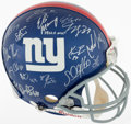 Autographs:Others, 2007 New York Giants Team Signed Helmet - Super Bowl XLII Champions....