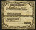 Obsoletes By State:Vermont, Woodstock, VT- Vermont State Bank Office of Discount & Deposit 50¢ 18__ Remainder Very Fine.. ...