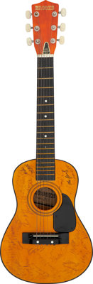 Alan Jackson, Tracy Byrd, Porter Wagoner, and Other Country Greats Signed Miniature Brooks Acoustic Guitar (Model #K55)...