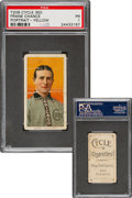 Baseball Cards:Singles (Pre-1930), 1909-11 T206 Cycle 350 Frank Chance (Portrait-Yellow) PSA Poor 1 - The Only Cycle 350 on the PSA Census! ...
