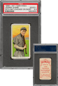 Baseball Cards:Singles (Pre-1930), 1909-11 T206 Hindu-Red Johnny Evers (With Bat, Chicago On Shirt) PSA Good+ 2.5 - The Only PSA-Graded Example! ...