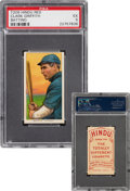Baseball Cards:Singles (Pre-1930), 1909-11 T206 Hindu-Red Clark Griffith (Batting) PSA EX 5 - The Finest of Only Four PSA-Graded Examples! ...
