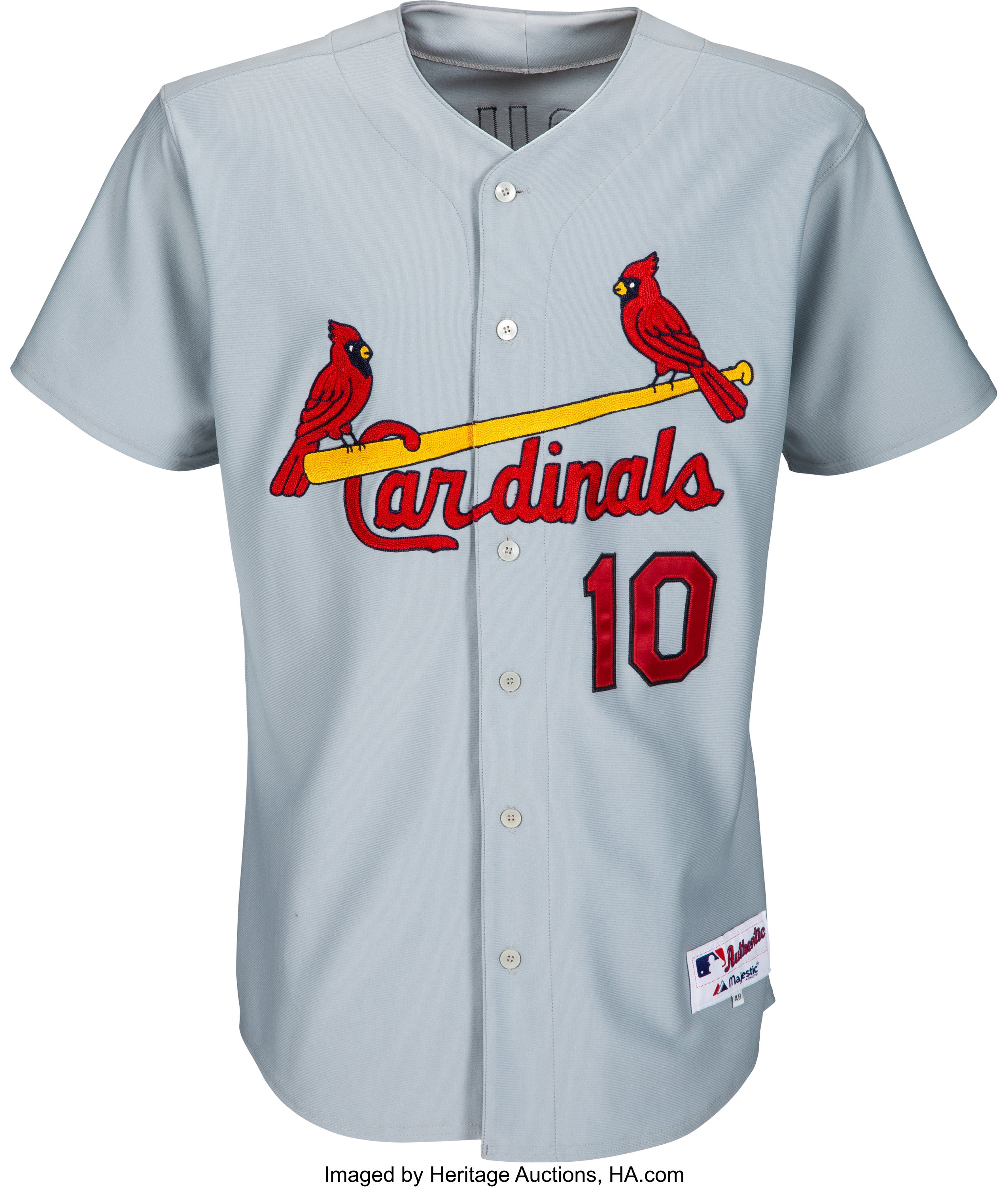 2006 Tony Larussa Game Worn Signed St Louis Cardinals Jersey Lot 57135 Heritage Auctions