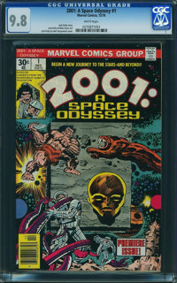 2001: A Space Odyssey #1 (Marvel, 1976) CGC NM/MT 9.8 White pages