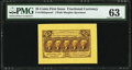 Fractional Currency:First Issue, Fr. 1282sp 25¢ First Issue Wide Margin Face PMG Choice Uncirculated 63.. ...