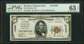 National Bank Notes:Pennsylvania, Hershey, PA - $5 1929 Ty. 2 The Hershey National Bank Ch. # 12688 PMG Choice Uncirculated 63 EPQ.. ...