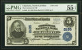 National Bank Notes:North Carolina, Charlotte, NC - $5 1902 Plain Back Fr. 605 The Commercial National Bank Ch. # 2135 PMG About Uncirculated 55 EPQ.. ...