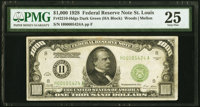 Fr. 2210-H $1,000 1928 Federal Reserve Note. PMG Very Fine 25