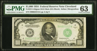 Fr. 2211-D $1,000 1934 Mule Federal Reserve Note. PMG Choice Uncirculated 63