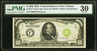 Fr. 2211-F $1,000 1934 Light Green Seal Federal Reserve Note. PMG Very Fine 30