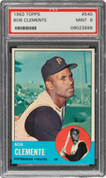 Baseball Cards:Singles (1960-1969), 1963 Topps Roberto Clemente #540 PSA Mint 9 - Only Two Higher. ...