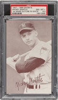 Baseball Cards:Singles (1940-1949), 1947-1966 Exhibits Mickey Mantle (Batting, Name Outlined In White) PSA NM-MT+ 8.5. ...
