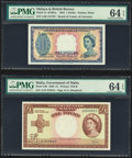 Malaya and British Borneo Board of Commissioners of Currency 1 Dollar 21.3.1953 Pick 1a PMG Choice Uncirculated 64 EPQ;...
